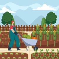 profitons de notre temps libre pour le jardinage vecteur