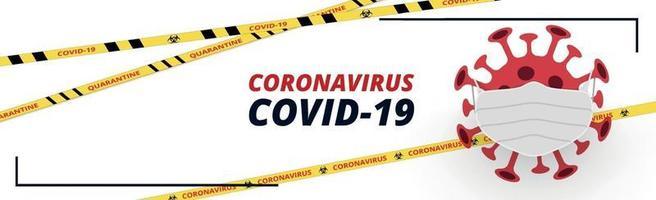 dangereux nouveau virus covid-19, l'image de la bactérie - vecteur