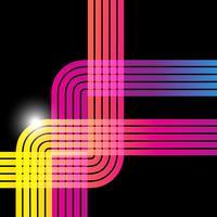 lignes colorées vecteur