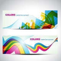 ensemble de bannière colorée
