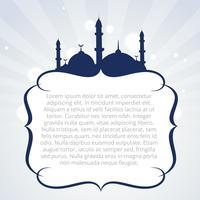 design de fond islamique vecteur