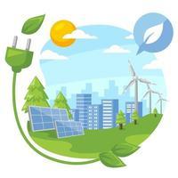 concept de technologie verte vecteur