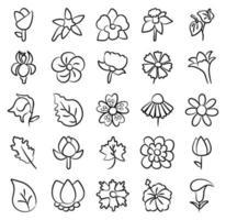 éléments de fleur de fleur vecteur