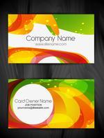 conception de carte de visite abstrait coloré vecteur