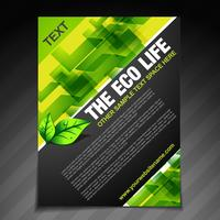 conception de brochures eco life vecteur