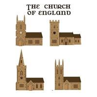 l'ensemble des églises anglaises. illustration vectorielle. vecteur