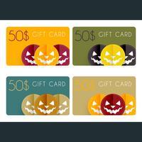 cartes cadeaux halloween vecteur