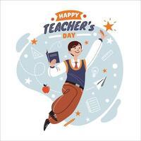 concept d'appréciation de la journée des enseignants vecteur