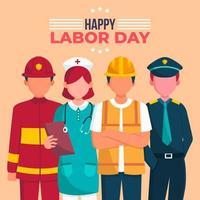 apprécier les réalisations des travailleurs le jour de la fête du travail vecteur