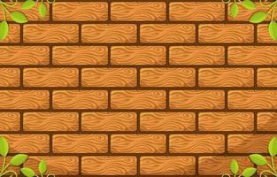 fond de briques de bois vecteur