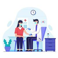 médecin injectant un vaccin à un patient vecteur