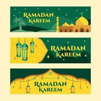 bannière de voeux ramadan kareem vecteur
