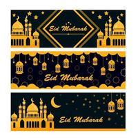 bannière eid mubarak vecteur
