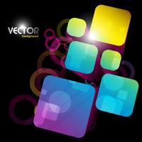 forme carrée abstraite vecteur