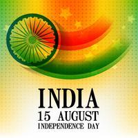 fête de l'indépendance indienne vecteur