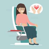 Caractère de donneur de sang de vecteur