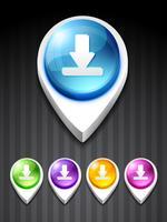 icône de téléchargement vecteur
