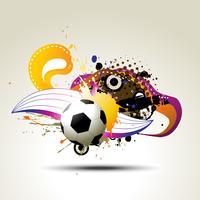 conception artistique de football vecteur