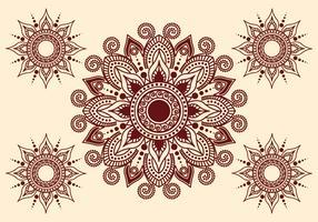 Vecteur d'art au henné