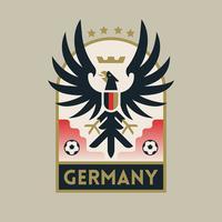 Insignes de football Coupe du monde Allemagne vecteur