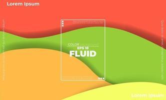 papier peint géométrique créatif. composition de formes de gradient de flux fluide à la mode. applicable pour carte-cadeau, affiche sur le modèle d'affiche de mur, page de destination, ui, ux, coverbook, baner, médias sociaux publiés, vecteur
