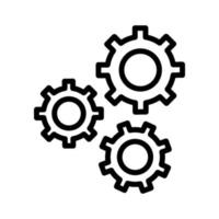 icône de vecteur de configuration