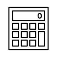 icône de vecteur de calculatrice