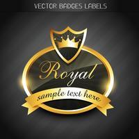 étiquette royale vecteur
