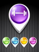 icône de gym vecteur