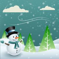 bonhomme de neige de vecteur