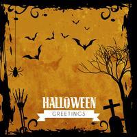 conception de voeux Halloween