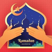 célébration du ramadan kareem pardonnez-vous vecteur