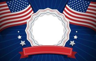 jour commémoratif aux États-Unis vecteur