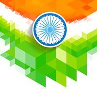 drapeau indien vague créative vecteur
