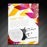 conception d'affiche d'événement vecteur