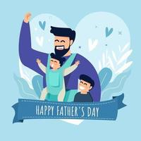 bannière de conception de fête des pères vecteur