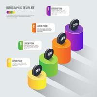Modèle de graphique d'élément infographique 3D vecteur