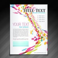 conception de flyer brochure vague colorée vecteur