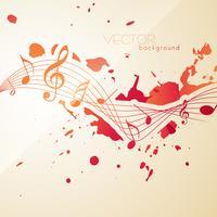 notes de musique de style abstrait vecteur
