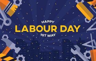 bonne fête du travail 1er mai vecteur
