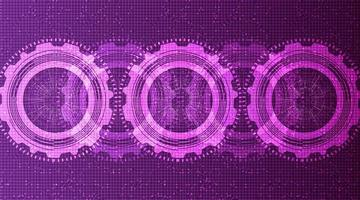 fond de technologie des engrenages techniques ultraviolets vecteur