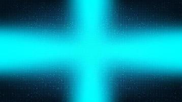 puce de circuit lumineux sur fond de technologie vecteur