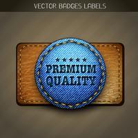 étiquette de jeans premium vecteur