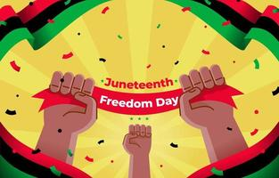 joyeux jour de la liberté de juin vecteur