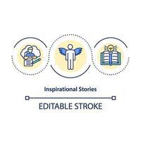 icône de concept d & # 39; histoires inspirantes vecteur