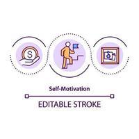 icône de concept d'auto-motivation vecteur