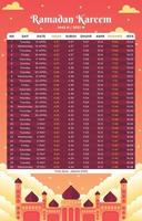 calendrier illustratif du ramadan vecteur