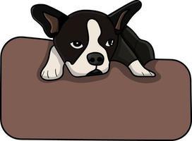 chien allongé sur un oreiller parfait pour un projet de conception vecteur