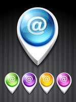 icône de courrier électronique vecteur
