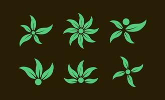 illustration vectorielle de feuille verte logo créatif modèle vecteur